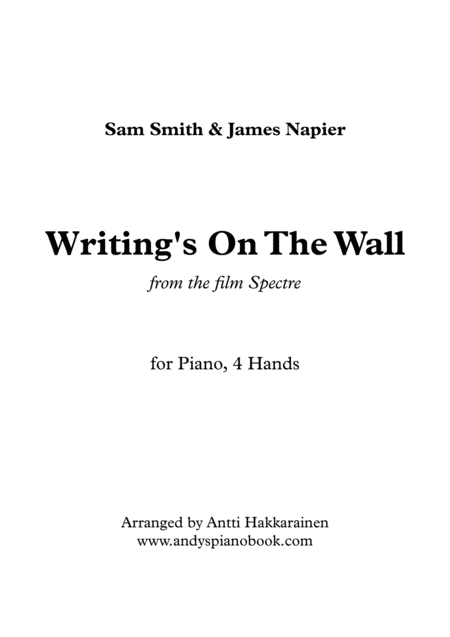 Writing's On The Wall - Piano, 4 Hands