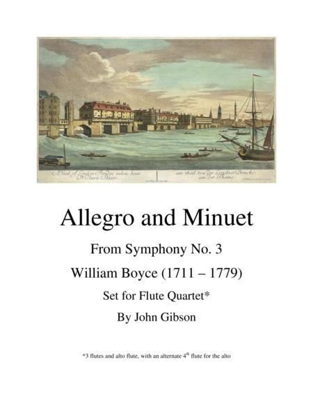 Allegro and Minuet for Flute Quartet