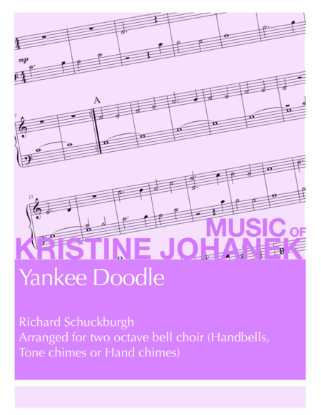 Yankee Doodle (2 octave Handbells, Tone chimes or Hand chimes)