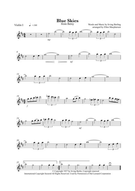 Blue Skies / String Quartet