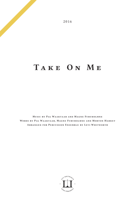 Take On Me - Score and Parts