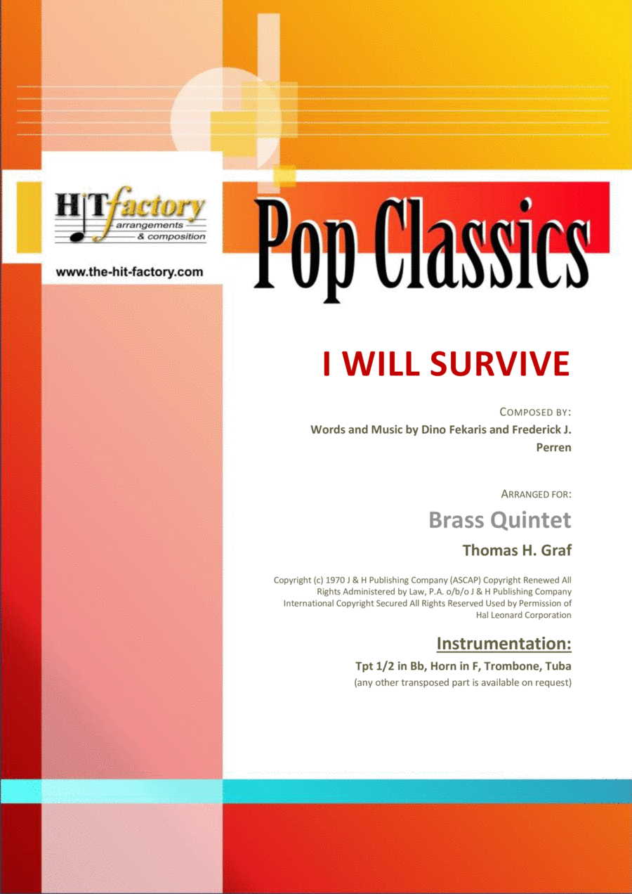 I Will Survive - Gloria Gaynor - Ballad & Disco - Brass Quintet