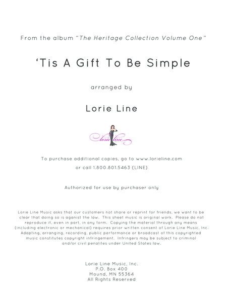'Tis A Gift To Be Simple (Simple Gifts)