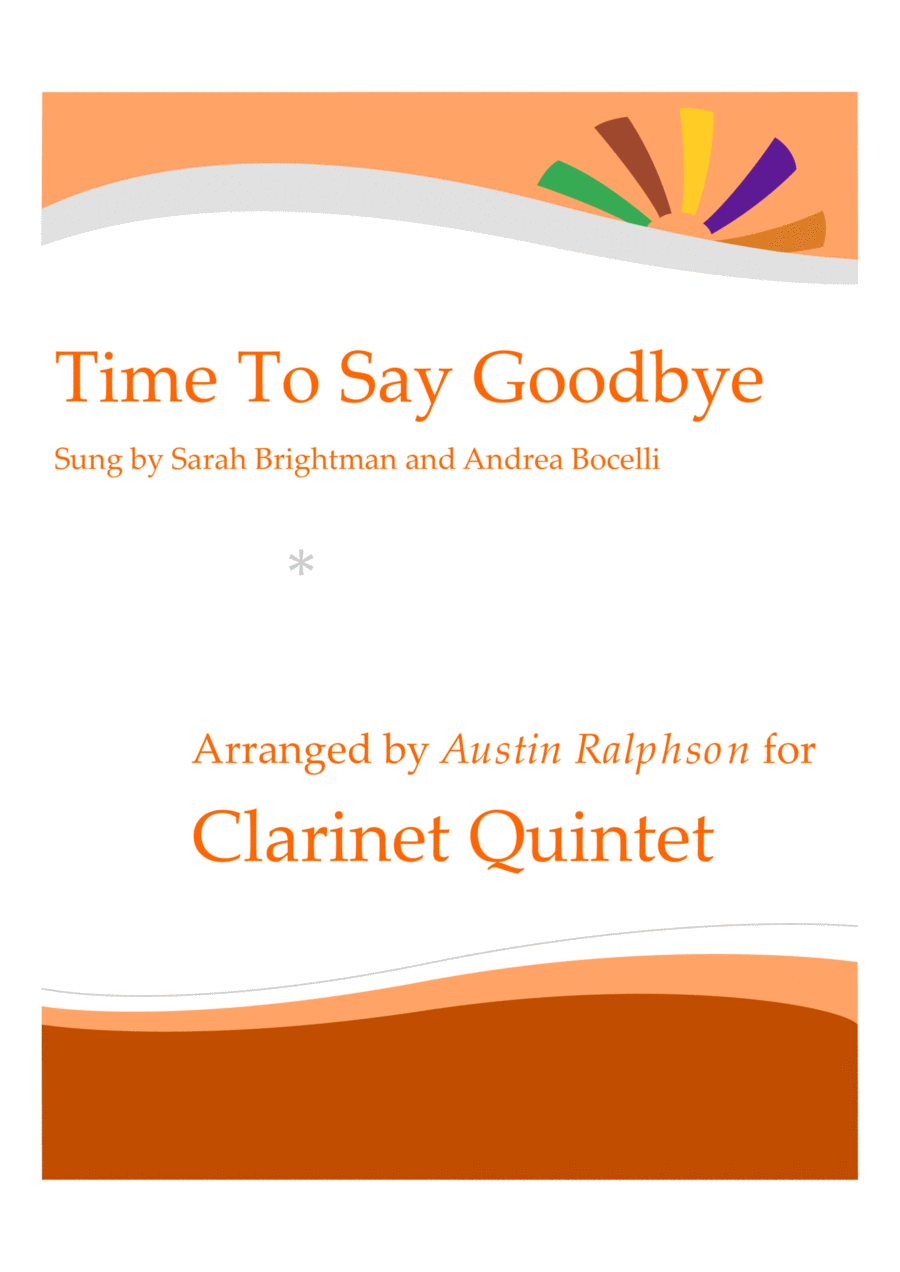 Time To Say Goodbye (Con te partirò) - clarinet quintet