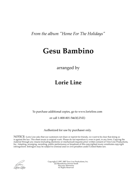 Gesù Bambino (from Home For The Holidays)