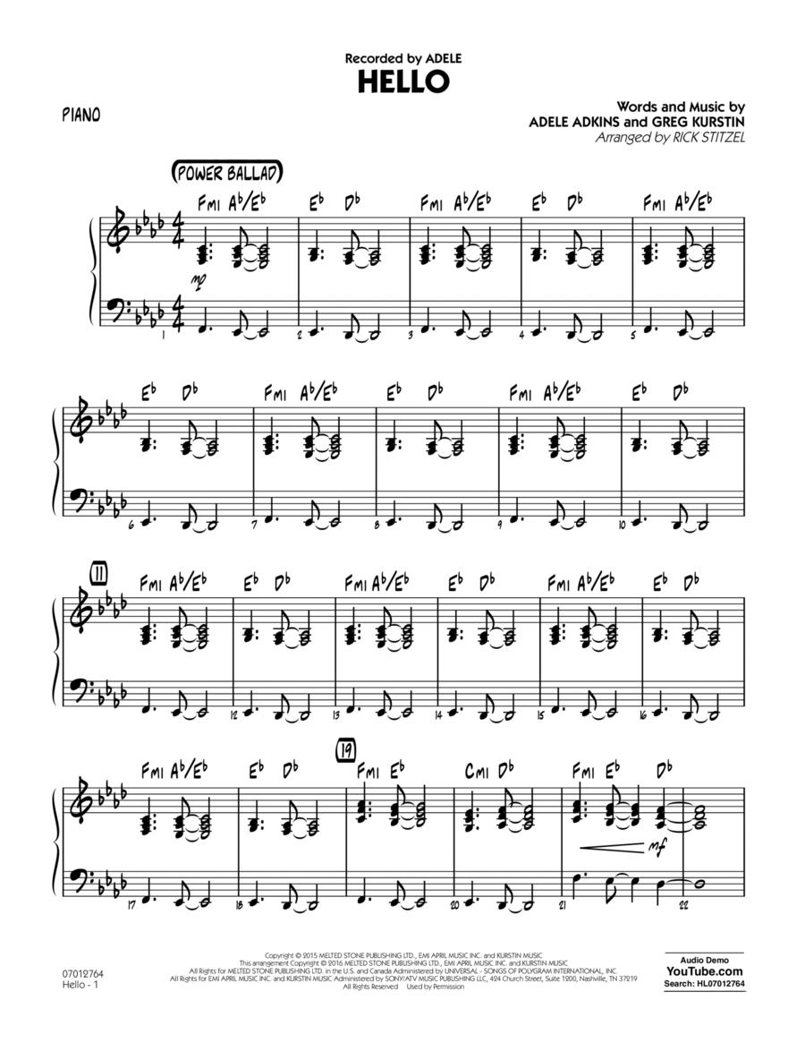 Hello - Piano