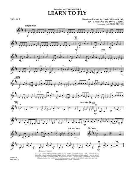 Learn to Fly - Violin 2