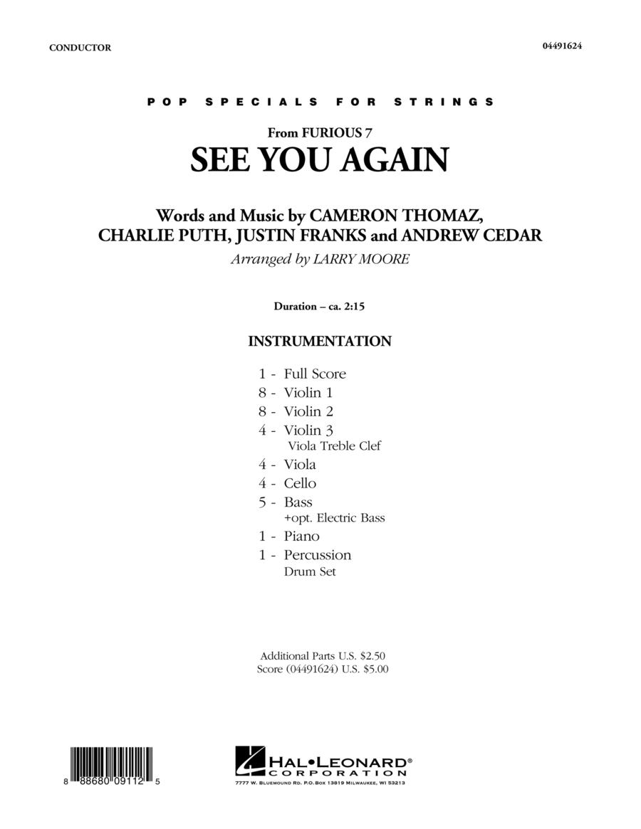See You Again - Conductor Score (Full Score)