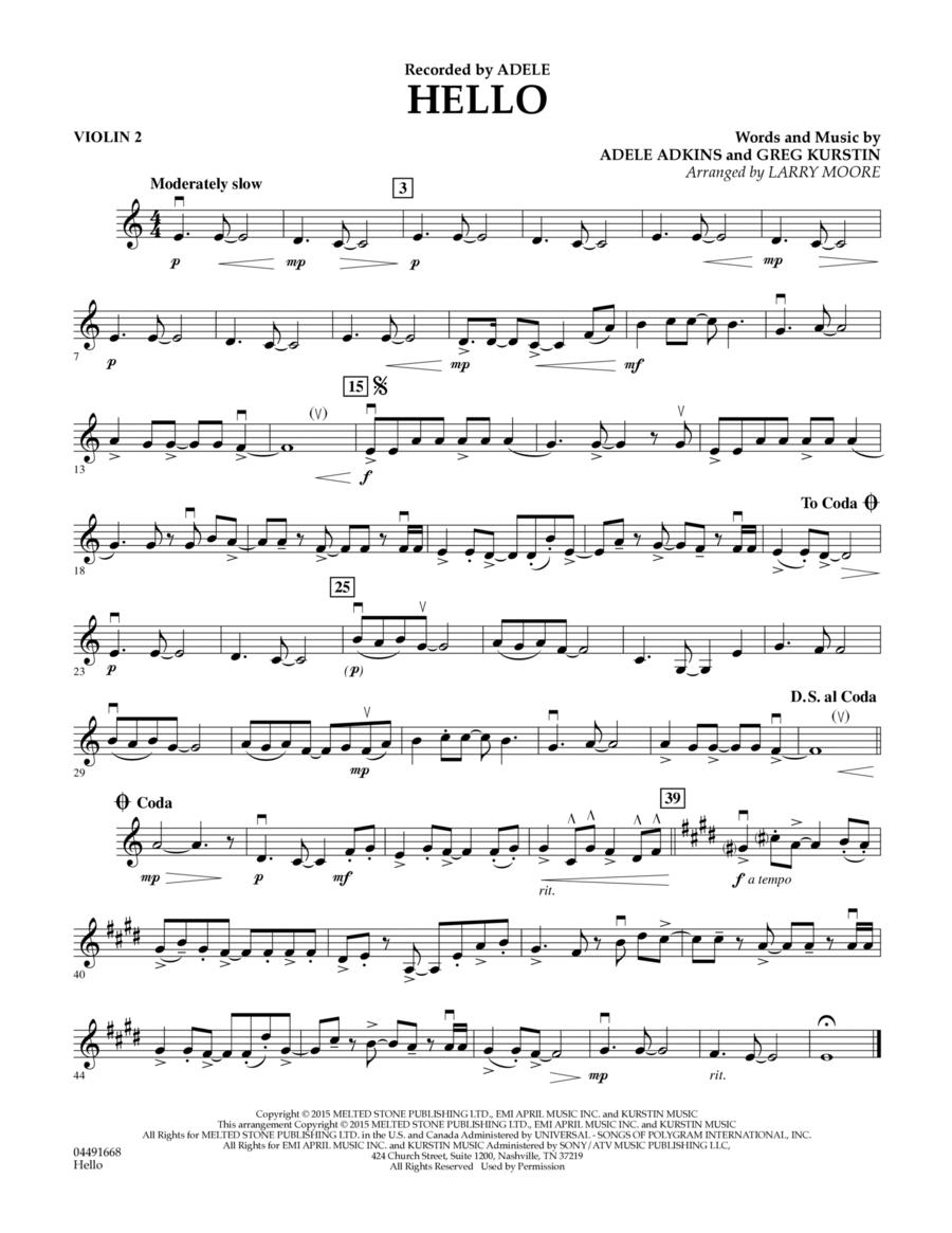 Hello - Violin 2