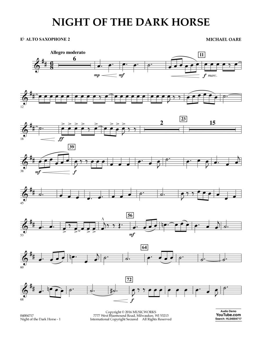 Night of the Dark Horse - Eb Alto Saxophone 2