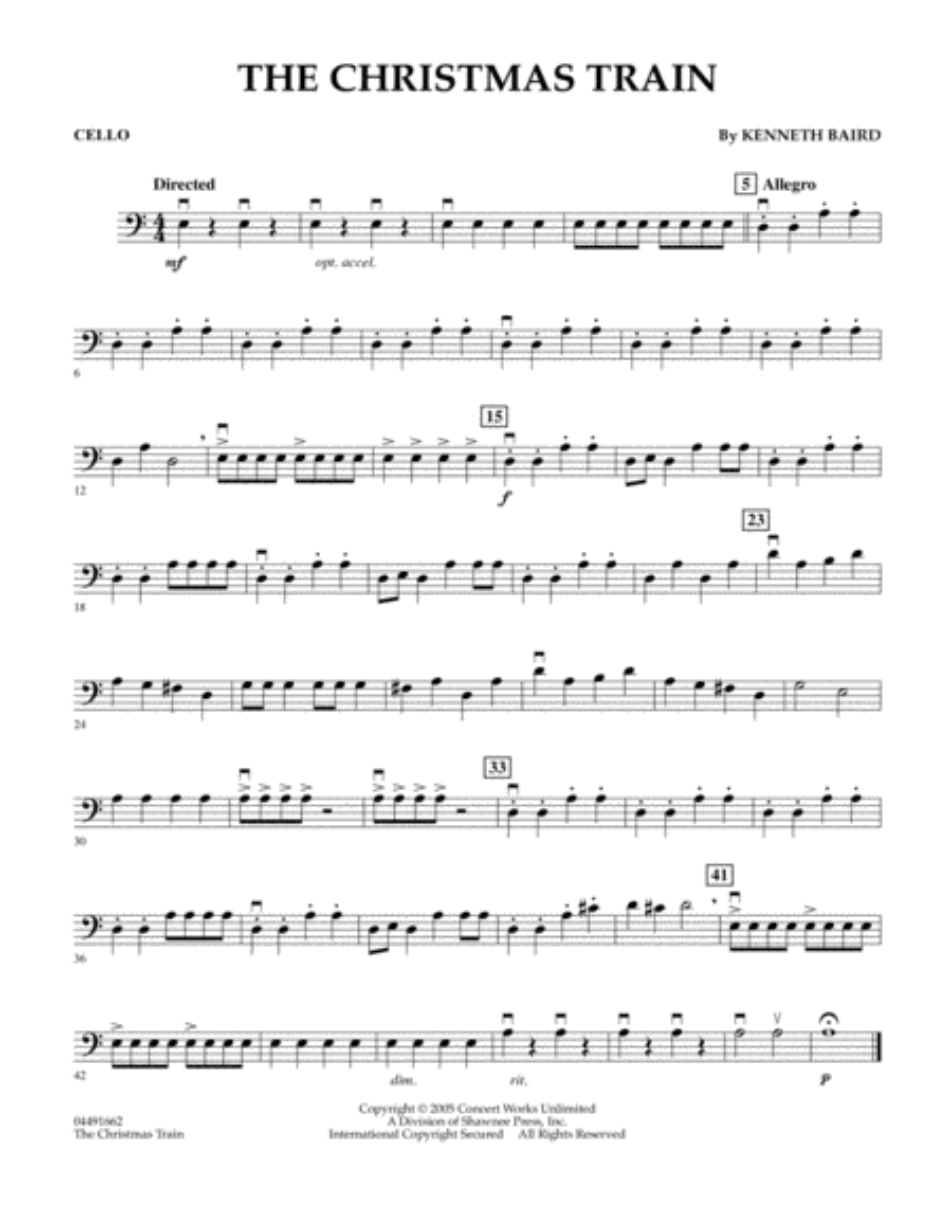 The Christmas Train - Cello