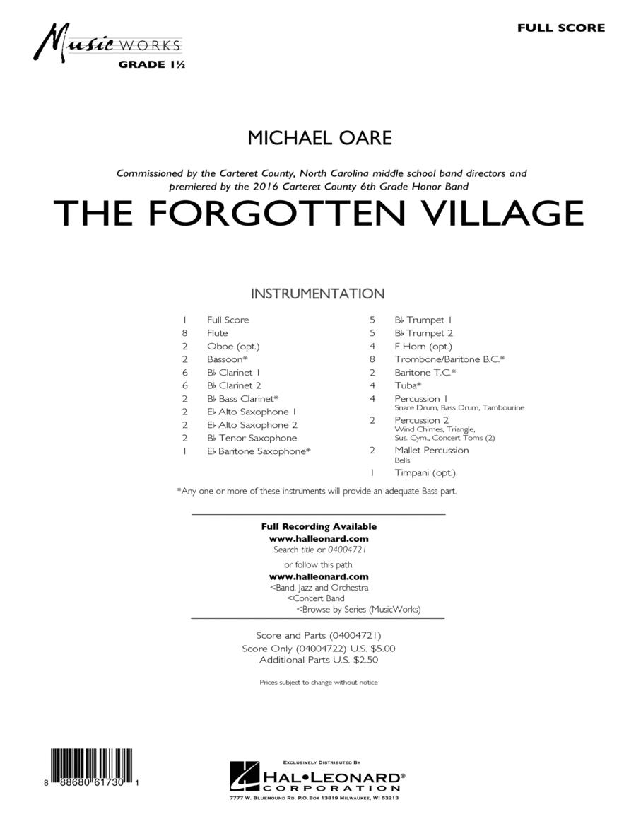 The Forgotten Village - Conductor Score (Full Score)