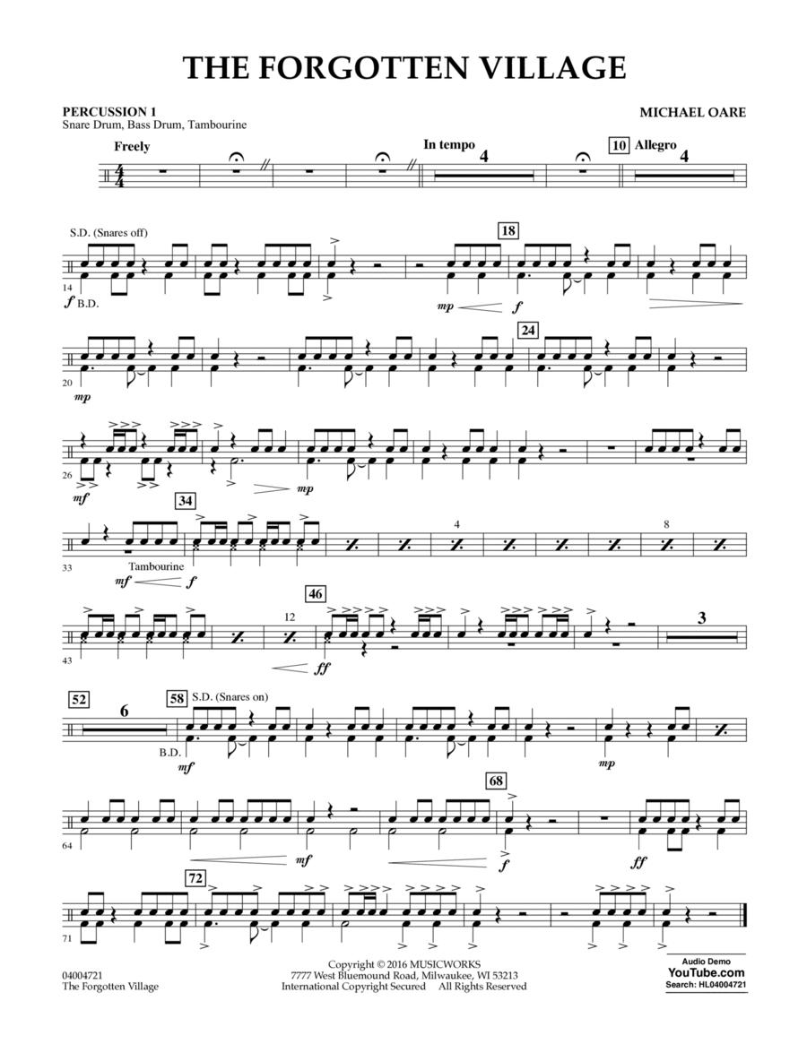 The Forgotten Village - Percussion 1