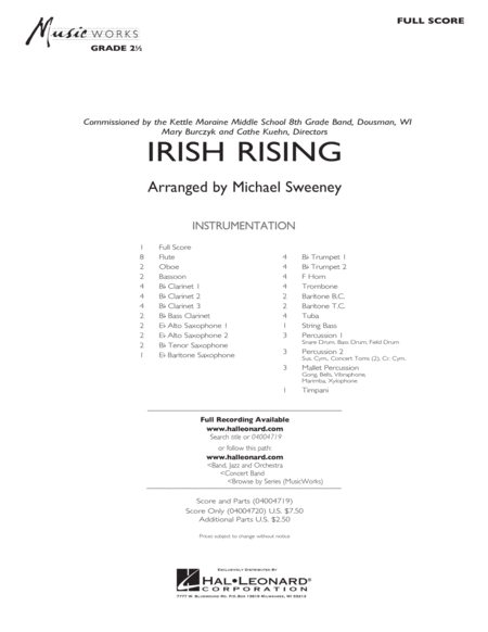Irish Rising - Full Score