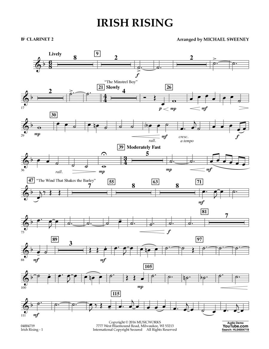 Irish Rising - Bb Clarinet 2