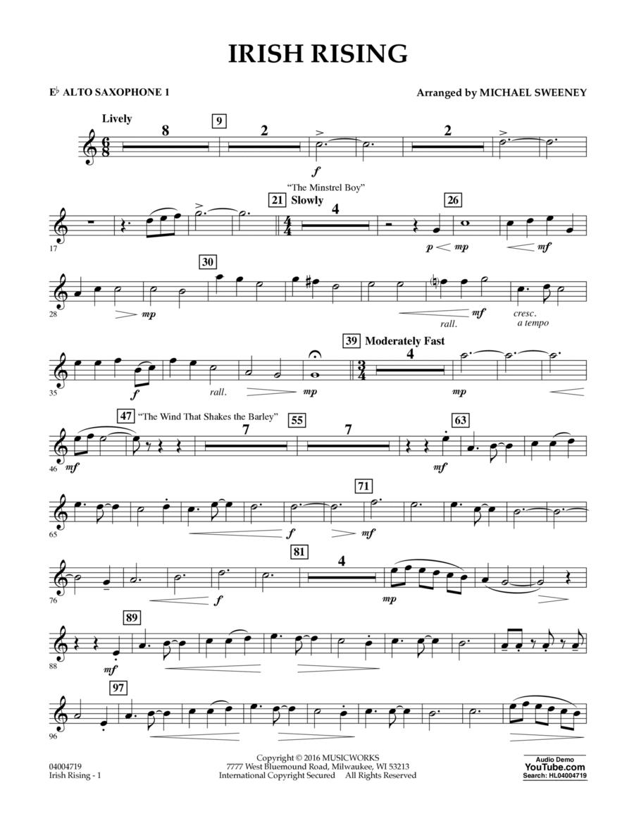 Irish Rising - Eb Alto Saxophone 1