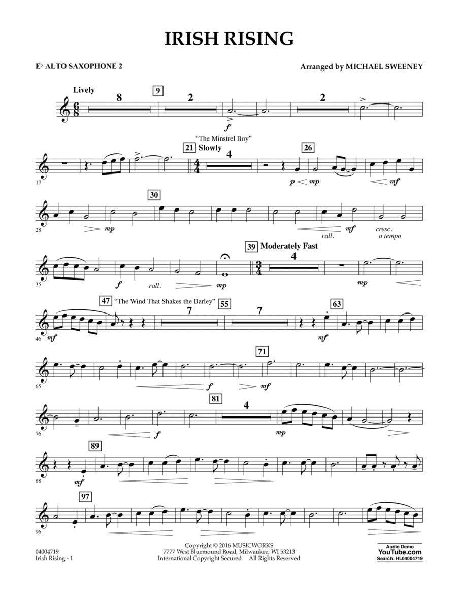 Irish Rising - Eb Alto Saxophone 2