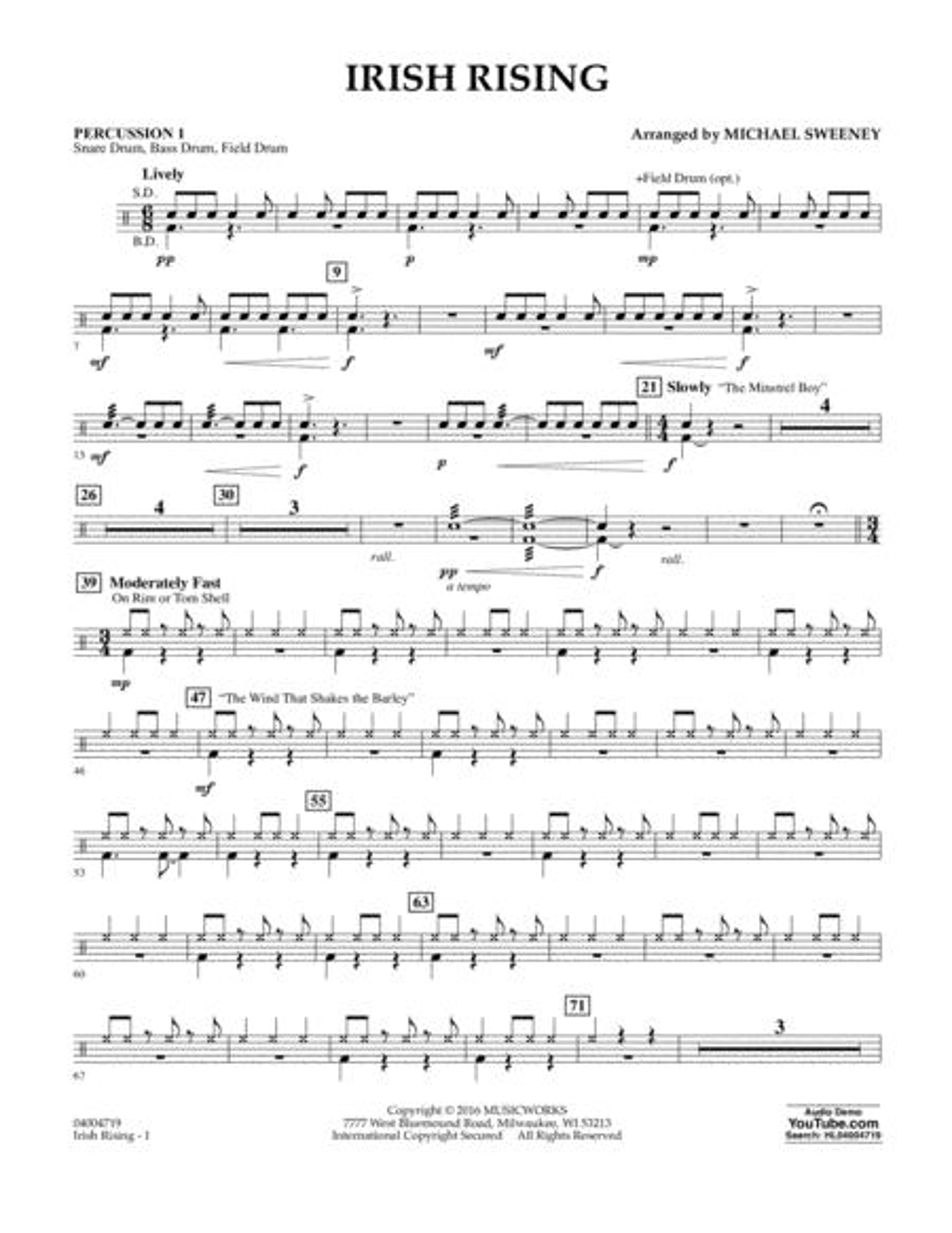 Irish Rising - Percussion 1
