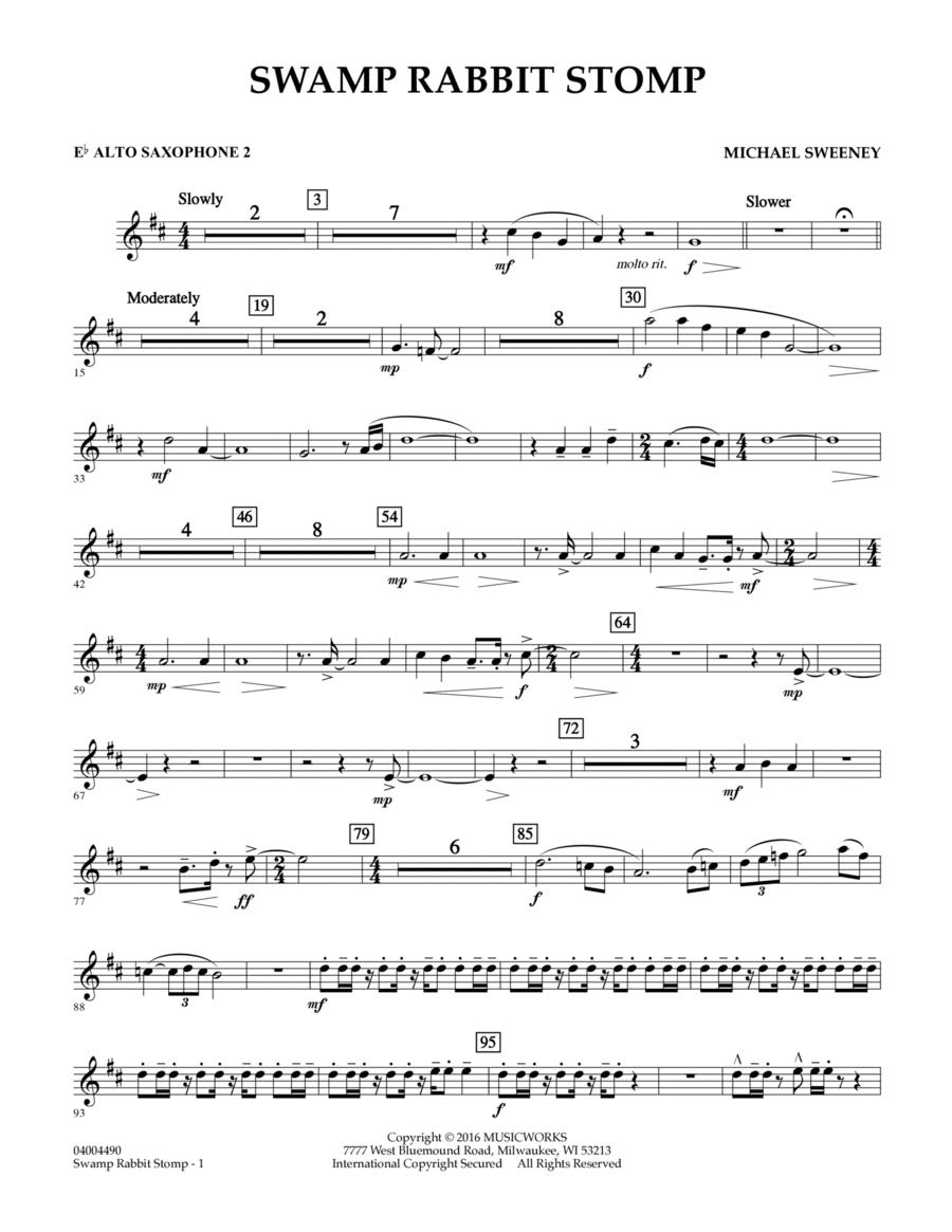 Swamp Rabbit Stomp - Eb Alto Saxophone 2