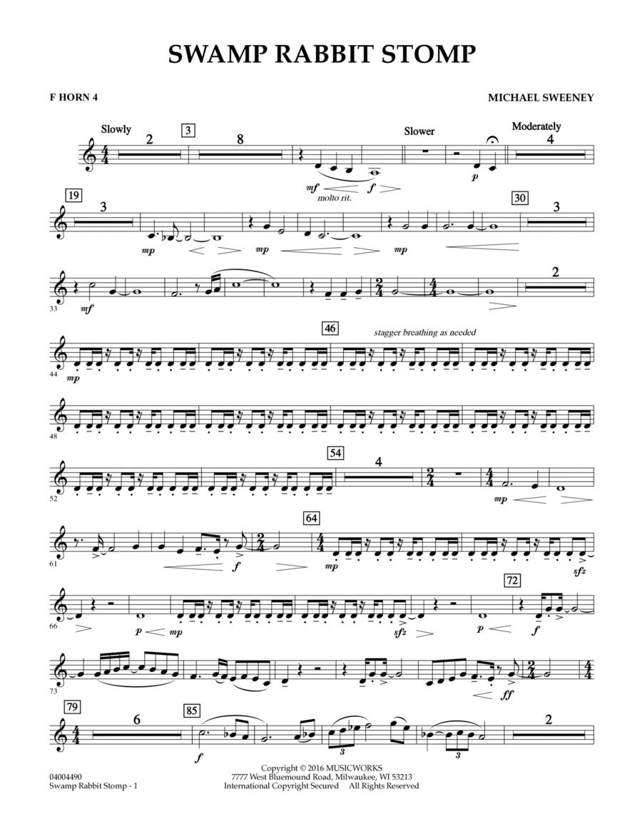 Swamp Rabbit Stomp - F Horn 4