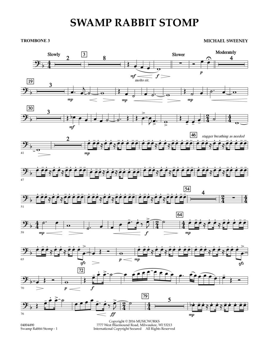 Swamp Rabbit Stomp - Trombone 3