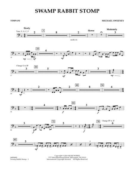 Swamp Rabbit Stomp - Timpani