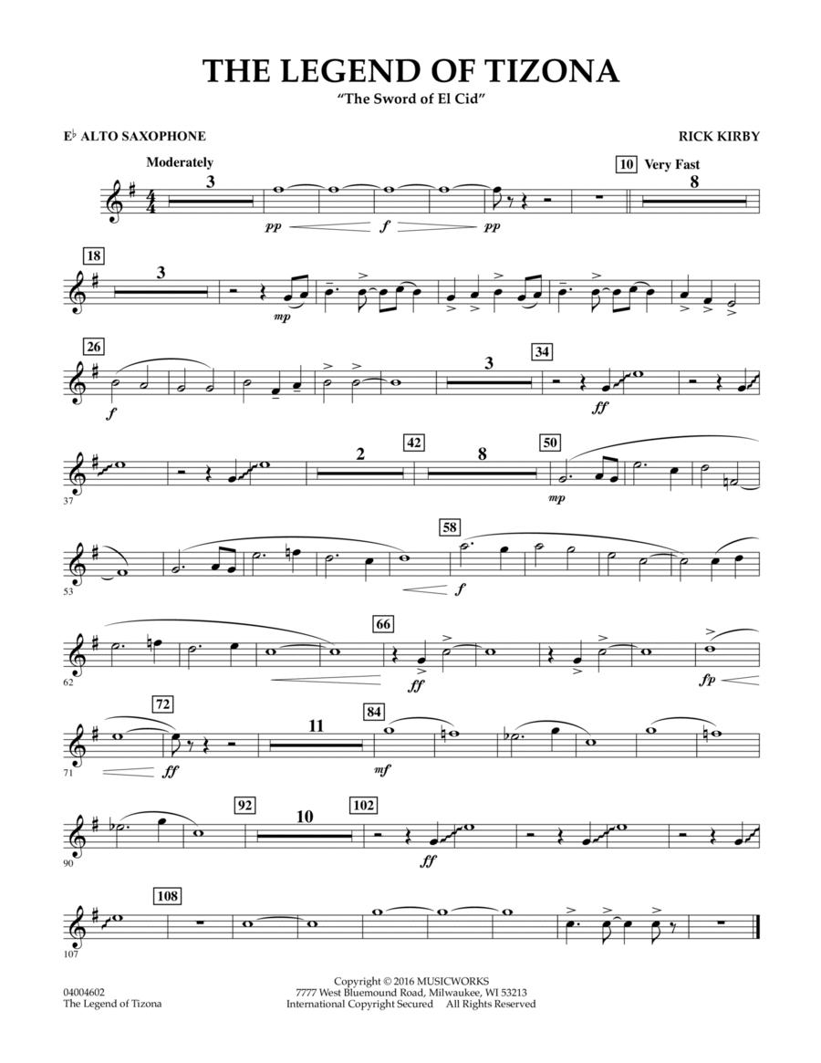 The Legend of Tizona - Eb Alto Saxophone