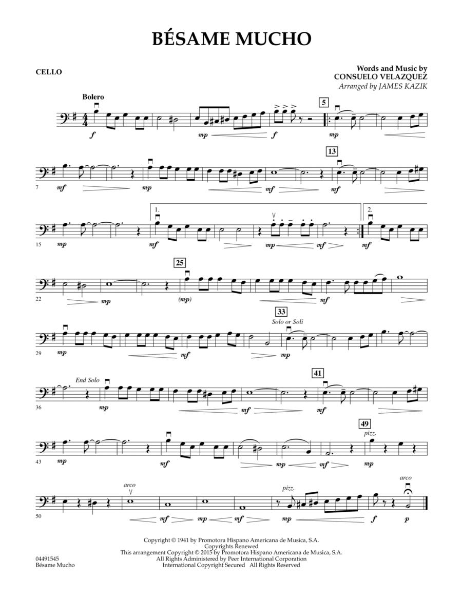 Besame Mucho - Cello
