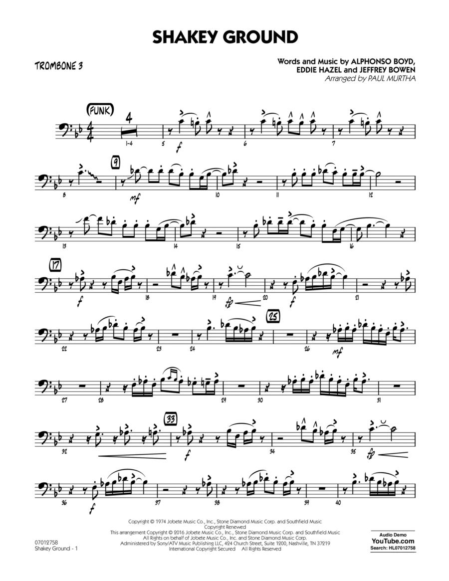 Shakey Ground - Trombone 3