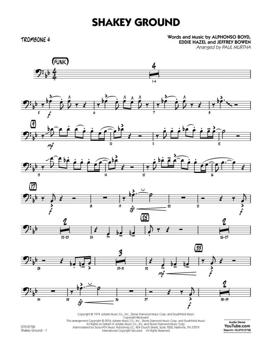 Shakey Ground - Trombone 4