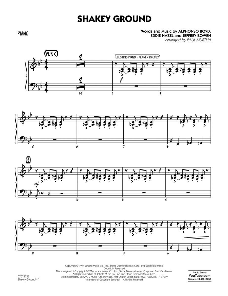 Shakey Ground - Piano