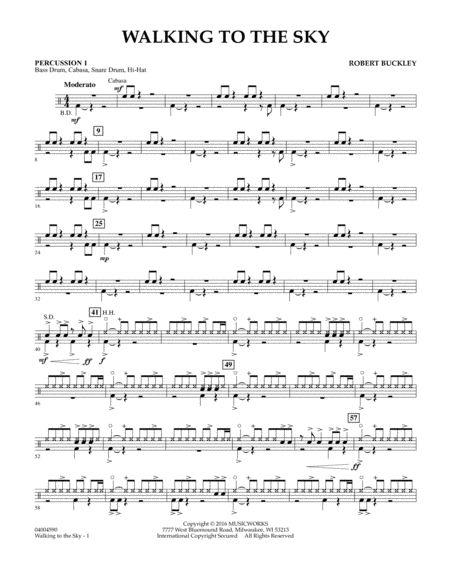 Walking to the Sky - Percussion 1