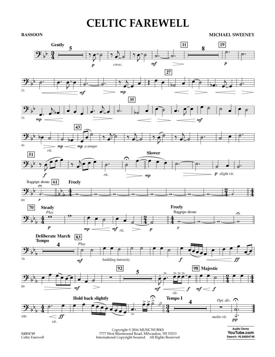 Celtic Farewell - Bassoon