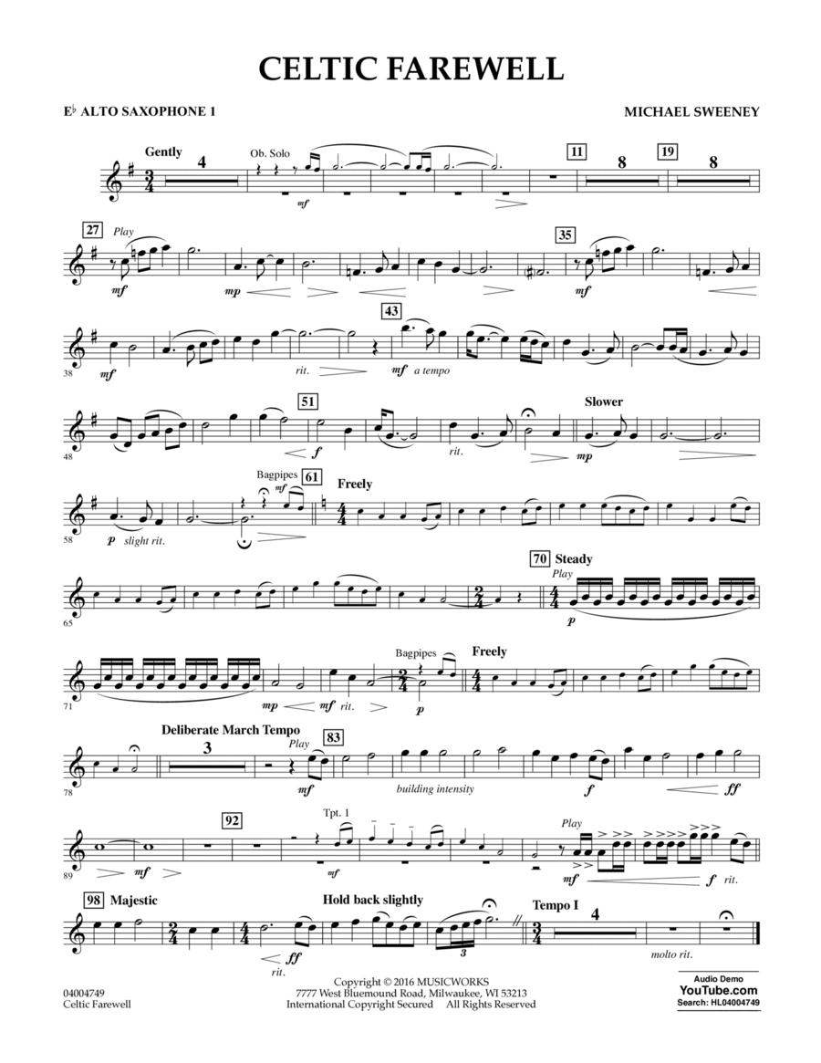 Celtic Farewell - Eb Alto Saxophone 1