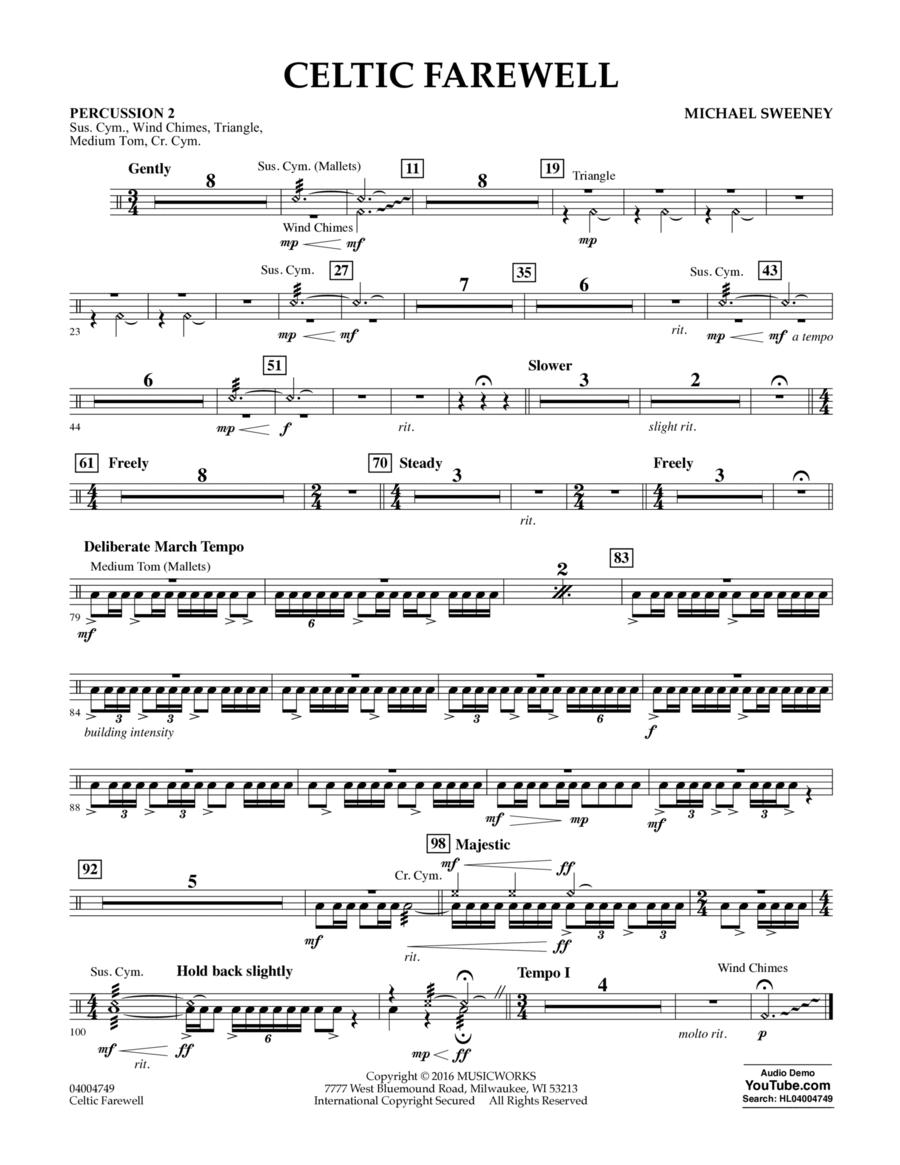 Celtic Farewell - Percussion 2