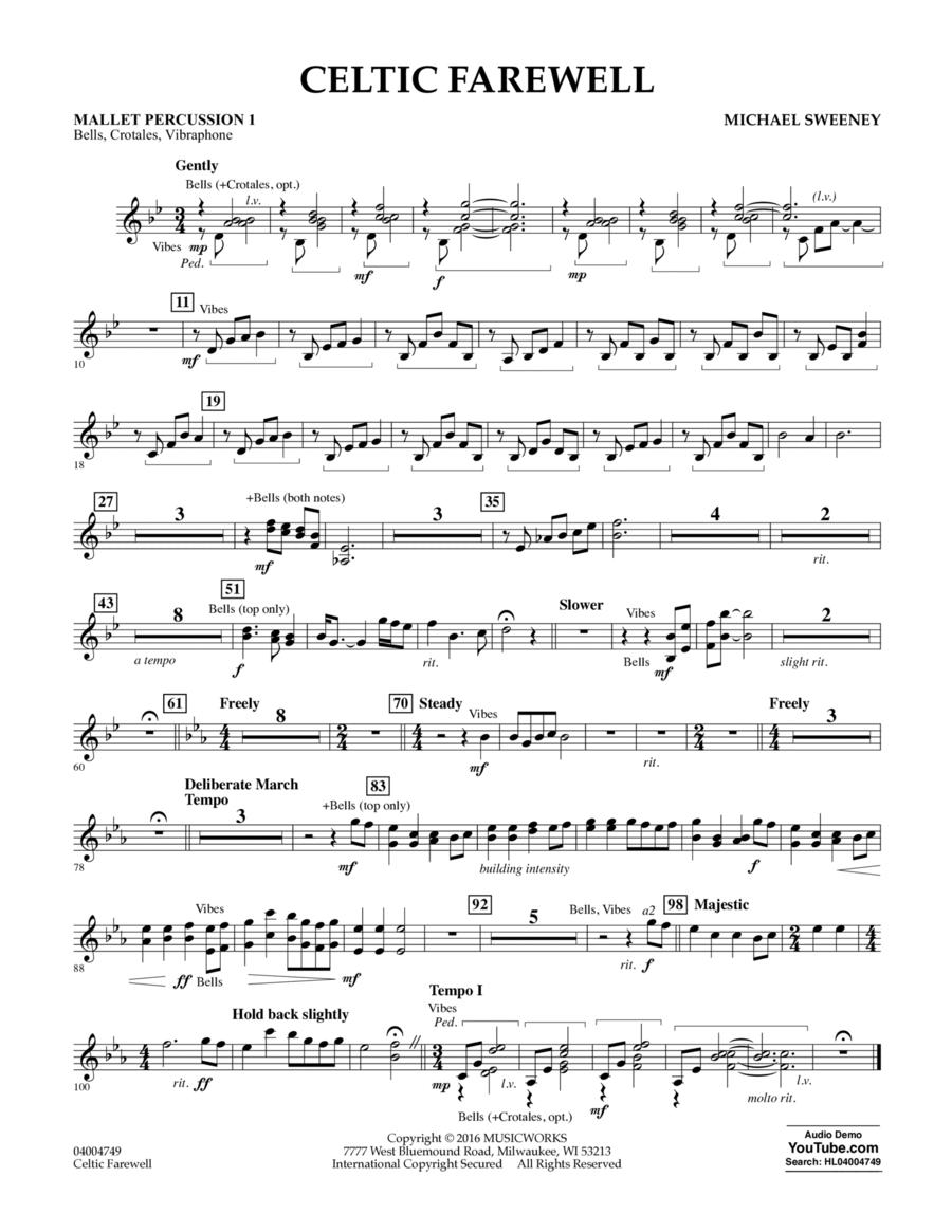 Celtic Farewell - Mallet Percussion 1