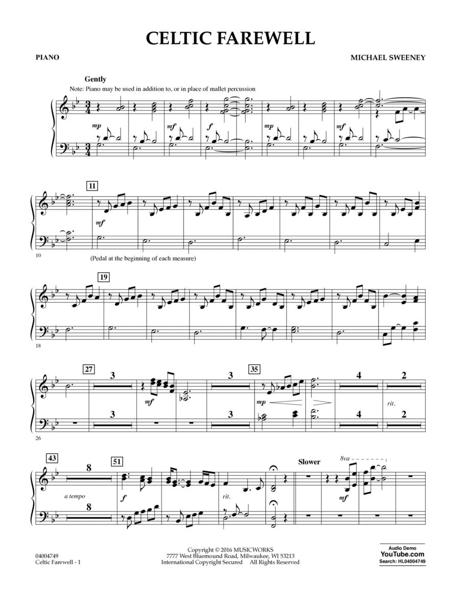 Celtic Farewell - Piano