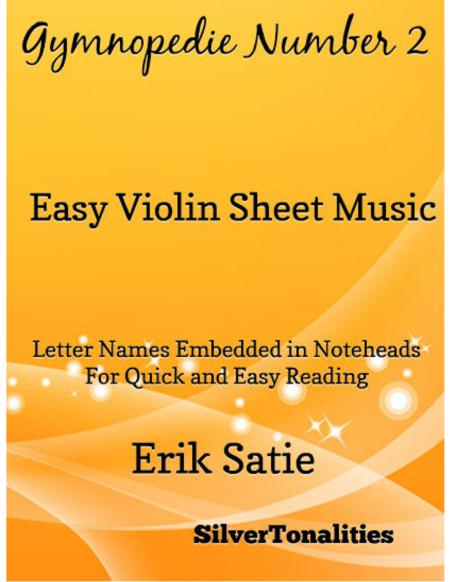 Gymnopedie Number 2 Easy Violin Sheet Music