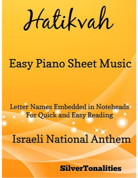 Hatikvah Easy Piano Sheet Music