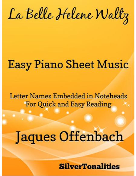 La Belle Helen Waltz Easy Piano Sheet Music