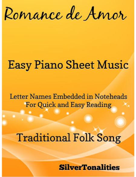 Romance de Amor Easy Piano Sheet Music