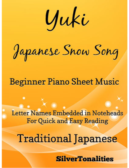Yuki Japanese Song Song Beginner Piano Sheet Music