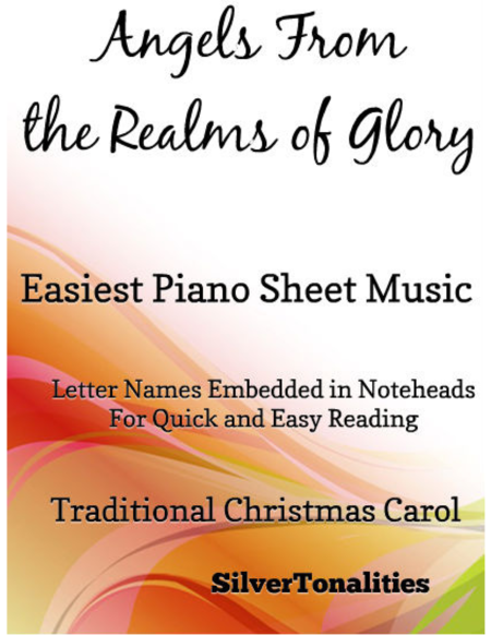 Angels From the Realms of Glory Easy Piano Sheet Music