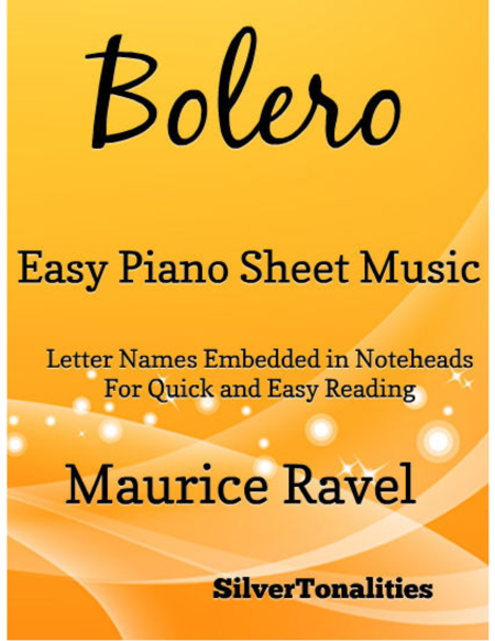 Bolero Easy Piano Sheet Music