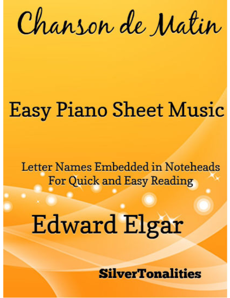 Chanson de Matin Easy Piano Sheet Music