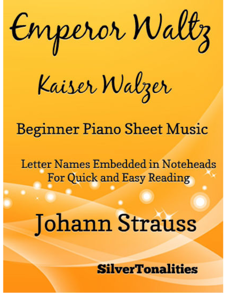 Emperor Waltz Beginner Piano Sheet Music