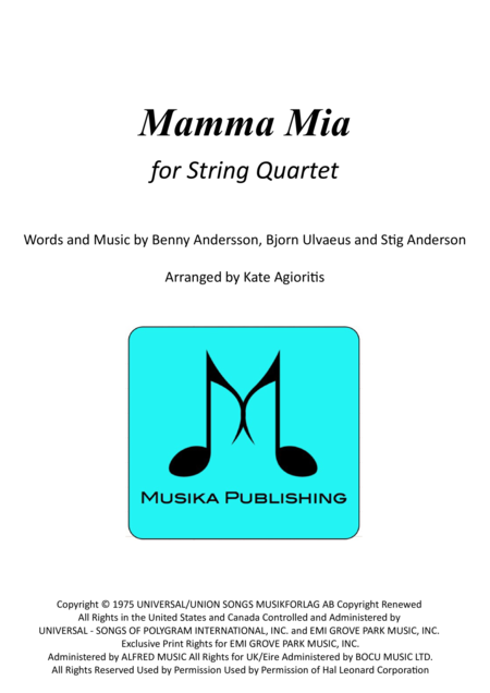 Mamma Mia - for String Quartet