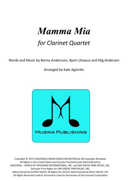 Mamma Mia - for Clarinet Quartet