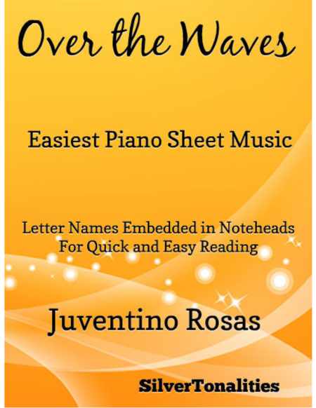 Over the Waves Easiest Piano Sheet Music