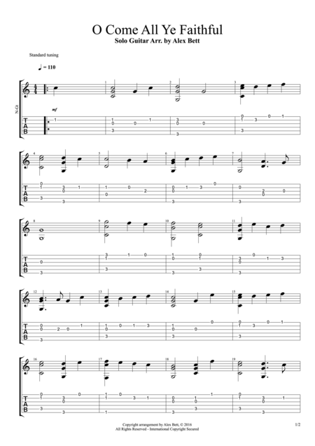 O Come All Ye Faithful (Fingerstyle Guitar)